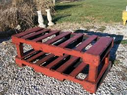 Repurposed Coffee Table by Stretcher Style Clark Coffee Table Bench Pallet Repurposed