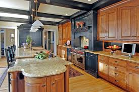 Counter Height Kitchen Islands Blue Wooden Kitchen Island With Shelves And White Counter Top With