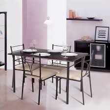 Chairs For Kitchen Table by Ikayaa 5pcs Modern Metal Frame Dining Kitchen Table Chairs Set