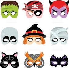 Halloween Masks Printables Halloween Printable Masks Stock Vector Art 472359881 Istock