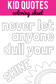 kid quote coloring pages