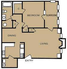 Sunroom Floor Plans by 1 2 And 3 Bedroom Apartments In Sandy Springs Ga Floor Plans