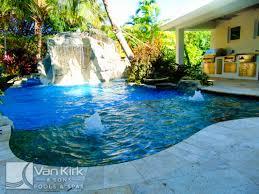 rock waterfall slide lazy river palm beach county van kirk pools