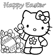 kitty easter coloring pages within hello eson me