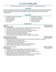 virginia tech resume samples best entry level mechanic resume example livecareer entry level mechanic job seeking tips