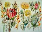 Cape Fynbos 4 Painting by Marion Langton - Cape Fynbos 4 Fine Art ...