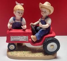 homco denim days first tractor home interiors porcelain figurine