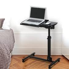 amazon com langria laptop table mobile desk cart adjustable