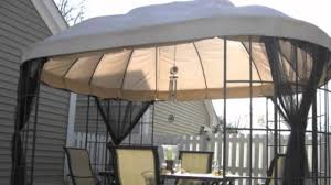 patio gazebos and canopies replacement canopy for the home depot oval dome gazebo youtube