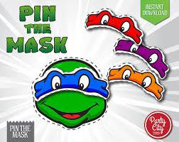 instant download printable ninja turtles pin mask game simply