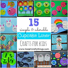 15 cupcake liner crafts for kids i heart crafty things