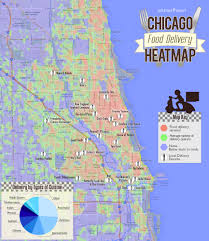 Chicago Suburbs Map Chicago Food Delivery Heatmap Where To Live If You Love To Order