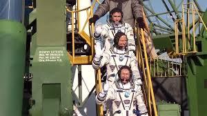 crew aboard soyuz rocket ready for launch space station