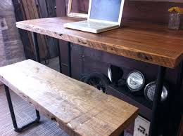 office design custom made industrial salvaged wood desk custom