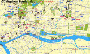 China City Map by Old Canton China Map Of Downtown Guangzhou China Pinterest