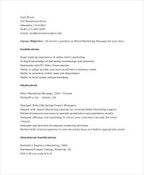 Online Marketing Manager Resume by Marketing Resume Examples 47 Free Word Pdf Documents Download