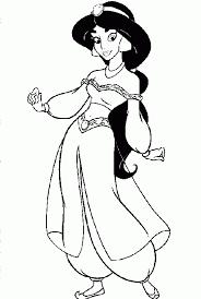 cartoon printable disney princess coloring pages jasmine