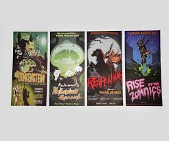 overwatch halloween movie posters set of 4