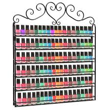 28 nail varnish display rack black wire metal nail polish