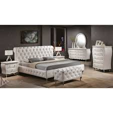 Awesome White Leather Bedroom Furniture Bedroom White Leather - White tufted leather bedroom set