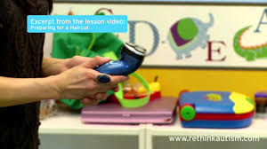 rethink autism tip turn getting a haircut into a fun activity