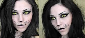 white contact lenses halloween black cat halloween makeup youtube