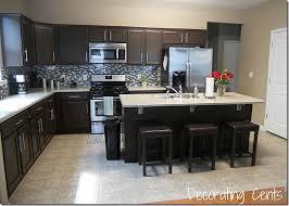 Kitchen Cabinet Refinishing Kits Sleek Dark Chocolate Painted Cabinets House Kitchens And Future