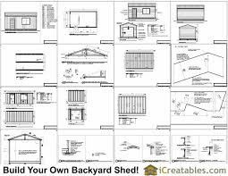 How To Build A Storage Shed Plans Free by 16x24 Garage Shed Plans Build Your Own Large Shed With A Garage Door