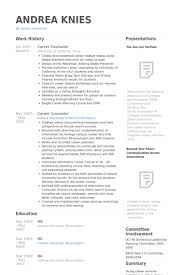 On Campus Job Resume by Career Counselor Resume Samples Visualcv Resume Samples Database