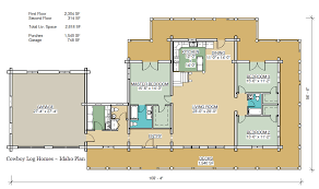 Log Cabin With Loft Floor Plans Idaho Plan 2 618 Sq Ft Cowboy Log Homes