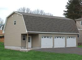 prefab 3 car garage with a gambrel barn roofline prices and photos
