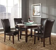 steve silver hartford 52 inch round dining table in dark oak