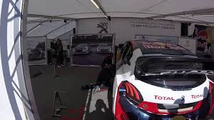 the car peugeot rx barcelona 2017 sunday sébastien loeb not happy with the car