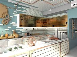 attractive ideas for ice cream shop design with colorful ideas for