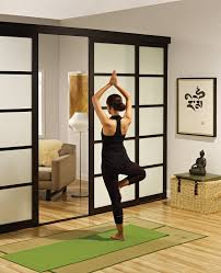 Room Divide by Sliding Glass Room Dividers Yoga