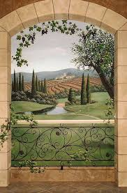 357 best mural art images on pinterest mural art wall murals wine rooms mural of tuscany win regions jeff raum