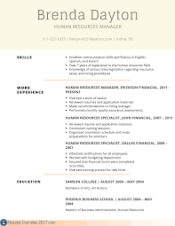 Resume Examples Human Resources Fluent In Spanish Resume Sample Resume For Your Job Application