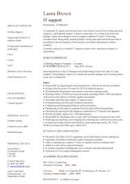 Computer Technician Resume Sample by Incredible It Support Engineer Cv Sample With It Support Resume