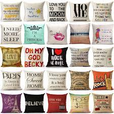cheap decorative pillows for sofa cushion cover home sweet pillow case cotton linen sunshine love