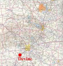 San Antonio Texas Map Devine Small Town Research Project