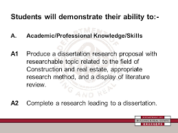 Criterion Referenced Assessment on Dissertation  Level   Subject     SlidePlayer Students will demonstrate their ability to   A Academic Professional Knowledge Skills
