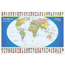 Pictures Of World Map by The World For Kids Wall Map Laminated National Geographic Store