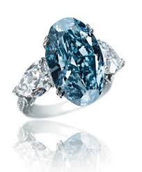 Chopard blue diamond engagement ring