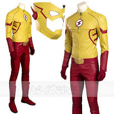 Flash Halloween Costumes Flash Season 3 Kid Flash Cosplay Costume Size