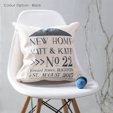 Housewarming Gift Ideas For Couple by New Home Cushion Personalised For New Home Owners By Oakdene