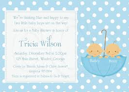 Invitation Cards For Baby Shower Templates Baby Shower Invitations For Twin Boys Theruntime Com