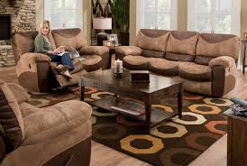 Chocolate Living Room Furniture by Catnapper Portman Reclining Sofa Set Saddle Chocolate Cn