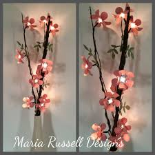 Diy For Home Decor Diy Lighted Branch With Paper Flowers Youtube