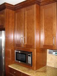 Built In Kitchen Cabinets Built In Microwave Cabinet To Countertop This Is A Great Height
