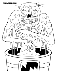 zombies coloring pages melty zombie coloring page by